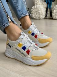 Pantofi Sport Cod: XY4126-3 White/Yellow
