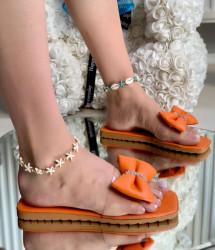 Papuci Dama cod: 99666 Orange