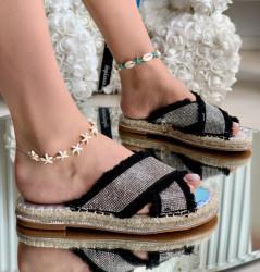 Papuci Dama Cod: 99886-4 Black/Silver