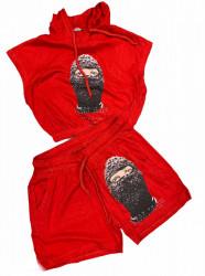 Compleu Dama Cod: Palm 01 Red