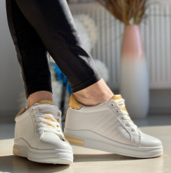 Pantofi Sport Cod: AB5687 White/yellow