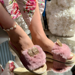 Papuci cod: Bunny Pink