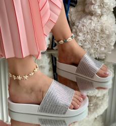 Papuci Dama cod: 022 White