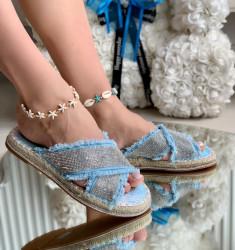 Papuci Dama cod: 99886-4 Blue/Silver