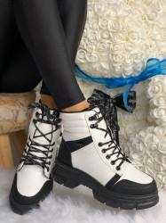 Ghete cod: Eda Fashion GH White/Black