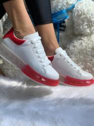 Pantofi Sport Cod: 1801 White/Red