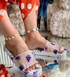 Papuci Dama cod: 001W Grapes