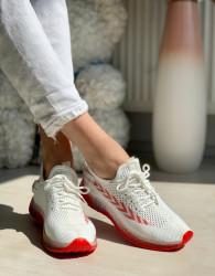 Pantofi Sport Cod: J77-6 White/Red