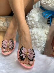 Papuci cod: Flower Pink