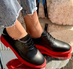 Pantofi Cod: A029 Black/ Red Mat