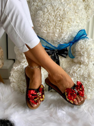 Papuci cod: Eda Glamour Red