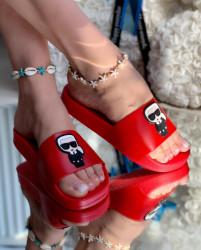Papuci Dama cod: 06 Karl Red