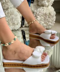 Papuci Dama cod: 888 White