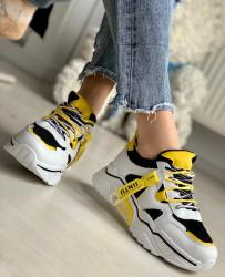 Pantofi Sport Cod: AB5720 Black/Yellow