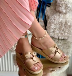 Papuci Dama cod: 011 Gold