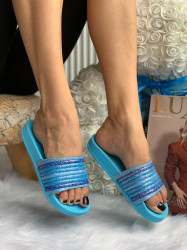Papuci cod: Eda Rainbow Blue