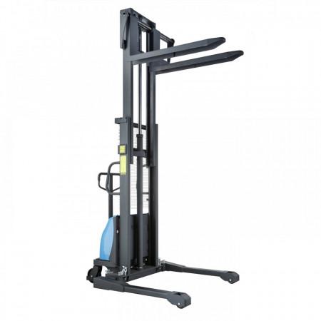 Poze BDA-S 1016 Stivuitor semi-electric, cu picioare reglabile, capacitate 1.000 kg., inaltime de ridcare pina la 1.600 mm ( 2.500, 3.000, 3500 sau 4.000 mm )