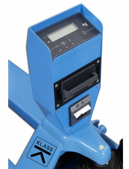 Poze SBC-P20 Transpaleta manuala, cu sistem de cantarire, cu imprimanta, profesionala, 2 t