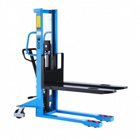 Poze SDA1016-P Stivuitor manual, pompa rapida, roti duble, PU, capacitate 1.000 kg., inaltime de ridcare 1.600 mm ( 2.500 sau 3.000 mm)