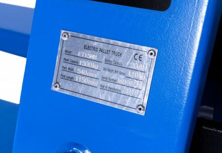 Poze ET15MH Transpalet cu deplasare electrica, HYBRID, 1.500 kg., baterie Li-Ion, interschimbabila