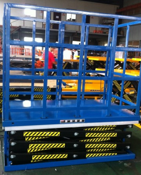 Poze DG3500 Masa hidraulica fixa, inaltime de ridicare 1.100 mm, capacitate de ridicare 3.500 kg., cu grilaj de protectie