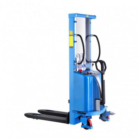Poze SPM1516 Stivuitor semi-electric, uz intensiv, capacitate 1.500 kg., inaltime de ridcare 1.600 mm ( 2.500, 3.000 sau 3.500 mm )