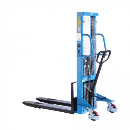 Poze SDA1516-P Stivuitor manual, pompa rapida, roti duble, PU, capacitate 1.500 kg., inaltime de ridcare 1.600 mm ( 2.500 sau 3.000 mm)