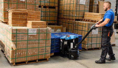 Poze EPT20-15ET2Li Transpalet electric, 1.500 kg., baterie Li-Ion, incarcare rapida, fara intretinere, incarcator integrat