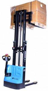 CDD1525 Stivuitor electric, capacitate 1.500 kg., inaltime de ridicare 2.500 mm ,furci reglabile, controler CURTIS