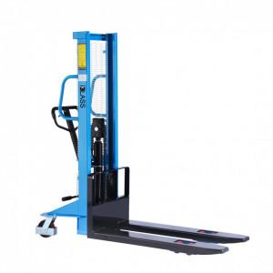 SDA1516-P Stivuitor manual, pompa rapida, roti duble, PU, capacitate 1.500 kg., inaltime de ridcare 1.600 mm ( 2.500 sau 3.000 mm)