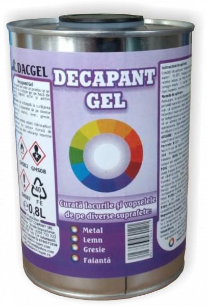 Decapant vopsea gel DacGel, 800 ml