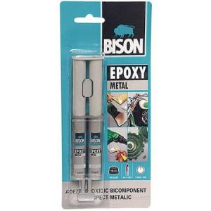 Adeziv bicomponent pentru metal Bison Epoxy Metal (2x12 ml)