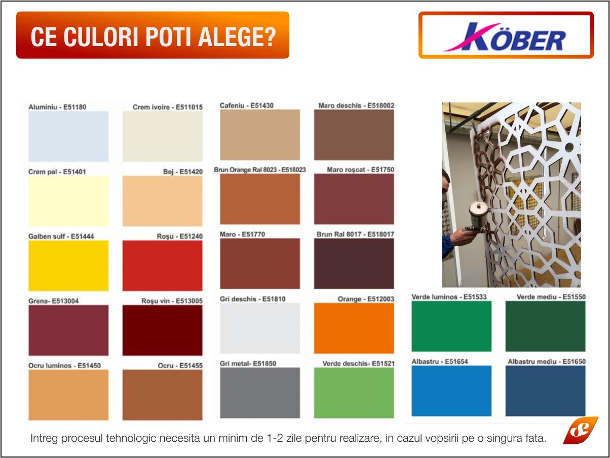 PVC Colorat Vopsit