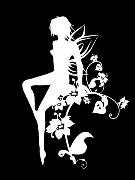 Poze STICKER DECO - BLACK AND WHITE WOMAN