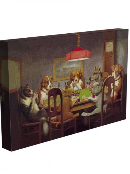Poze TABLOU DOGS PLAYING POKER