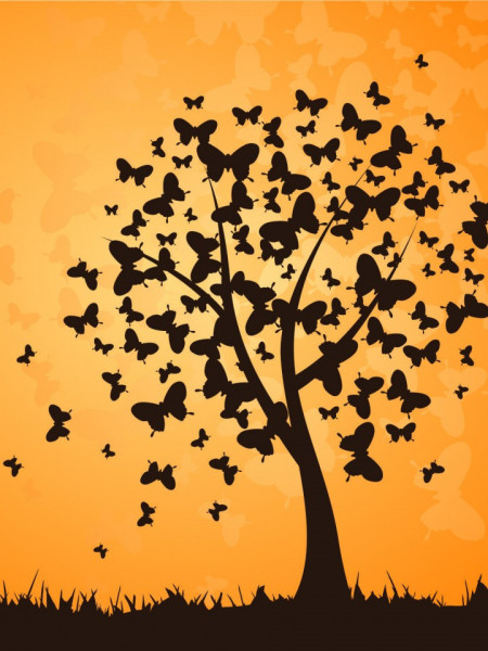 Poze STICKER BUTTERFLY - TREE