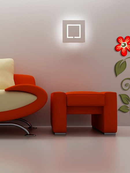 Poze STICKER 3D RED FLOWER