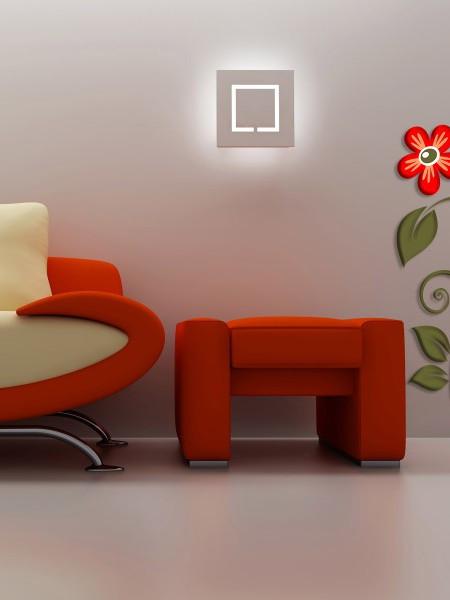 STICKER 3D RED FLOWER