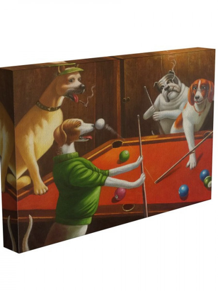 Poze TABLOU DOGS PLAYING POOL