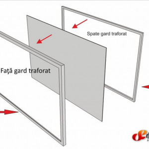 Gard metalic traforat BIANCA