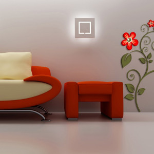 STICKER 3D RED FLOWER
