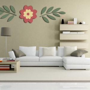 STICKER 3D NATURAL FLOWER