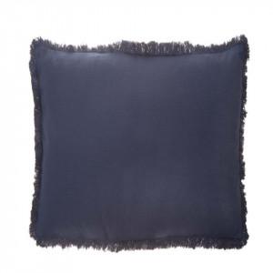 Perna decorativa patrata albastra din bumbac 45x45 cm Enes Blue Zago
