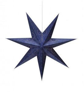 Lustra albastra din plastic si hartie Isadora Blue Markslojd