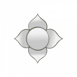 Oglinda rotunda argintie din polirasina 56x56 cm Louis Objet Paris
