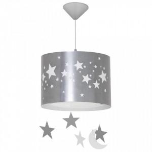 Lustra argintie din metal si plastic Stars Pendants Silver Aldex