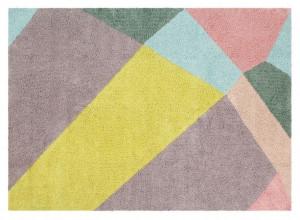 Covor dreptunghiular multicolor din bumbac 140x200 cm Happy Prism Lorena Canals