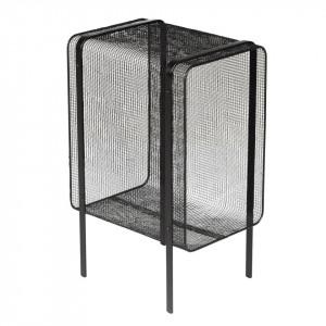 Masuta neagra din metal si sticla 26x35 cm Joya Zago