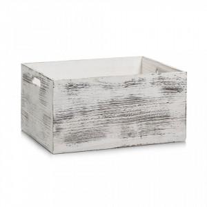 Cutie alba din lemn Rustic White Box Zeller