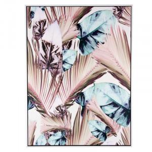Tablou multicolor din MDF si polistiren 60x80 cm Rosy Palm Somcasa